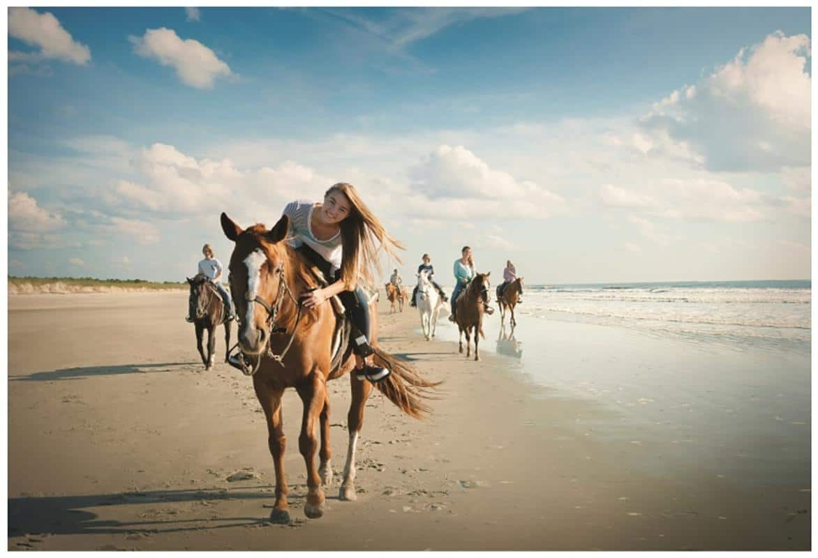horseback riding in myrtle beach at this resort is amazing