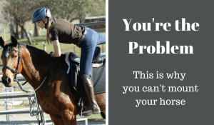 why you can't mount your horse
