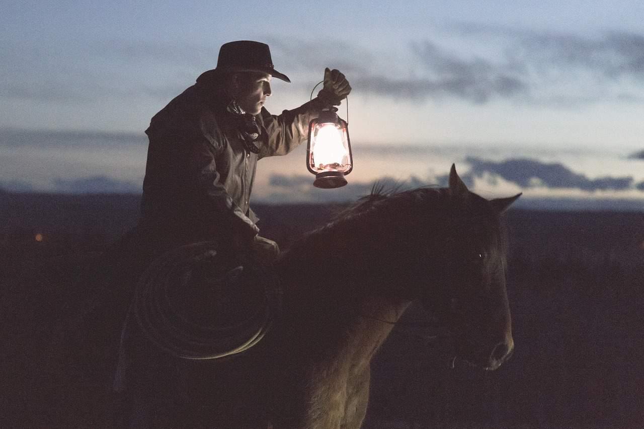 Cowboy with lantern