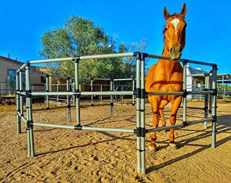 three rail portable horse corral