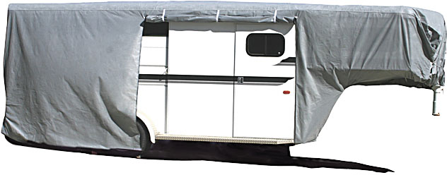 "ADCO 31'7""-34'6"" horse trailer cover goose neck"