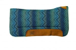 Weaver Leather All Purpose Contoured Saddle Pad with Felt Insert & Merino Wool Fleece Bottom