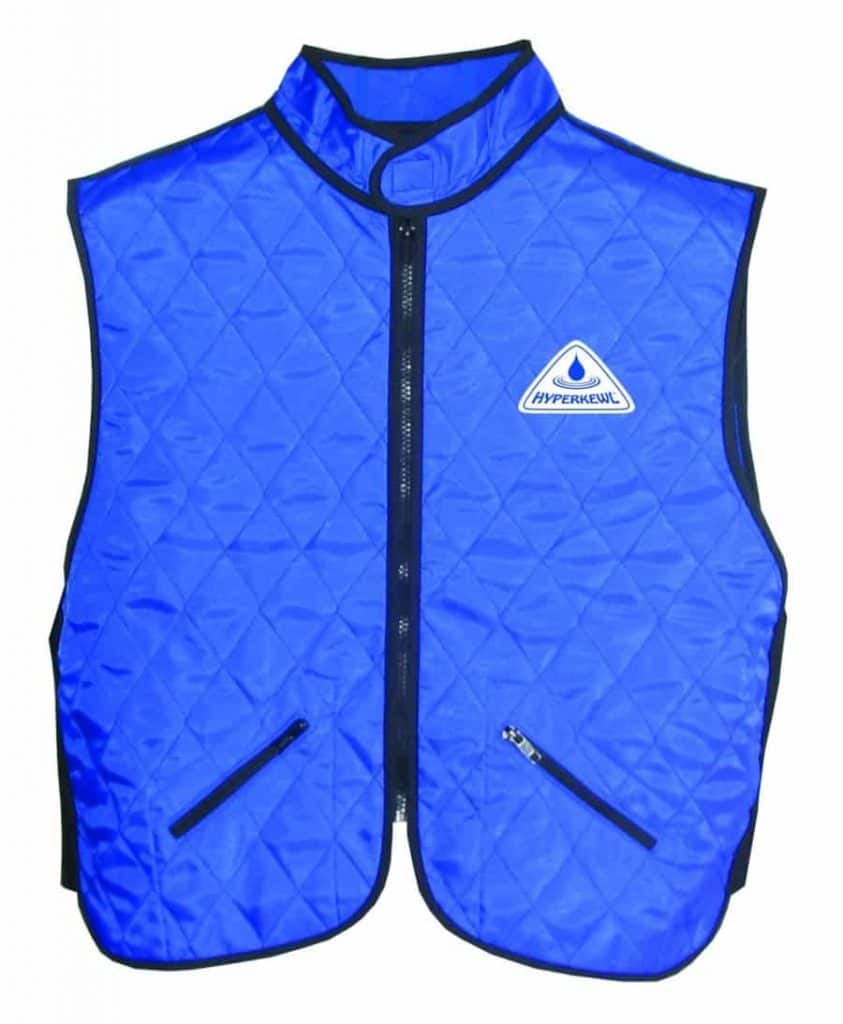 cooling vest, blue for men and women